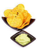 Chips and Guacamole — Stock Photo