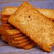 Stock Photo: Crunchy Bread Slices