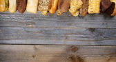 Frame of Various Bread — Stock Photo