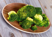 Crunchy Boiled Broccoli — Stock Photo