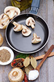 Cooking Mushrooms — Stock Photo