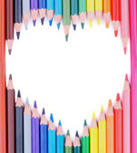 Heart of Colored Pencils — Stock Photo