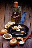 Cooking Mushrooms — Stock Photo