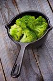 Crunchy Boiled Broccoli — Stock Photo