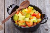 蔬菜炖煮的食物 — 图库照片