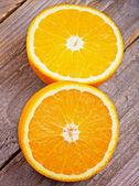 Mitades de naranjas — Foto de Stock
