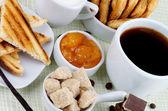 Kaffe frukost — Stockfoto