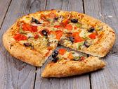Vegetarisk pizza — Stockfoto