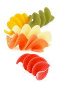 Colorful Rotini Pasta — Stock Photo