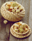 Dried Bread Cubes — Foto de Stock