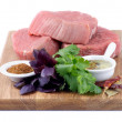 Raw Beef Steaks — Stock Photo #48129211