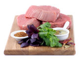 Filetes de carne cruda — Foto de Stock
