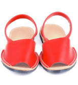 Kızıl sandaletler avarcas — Stok fotoğraf