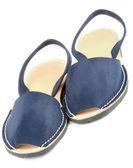 Blue Sandals Avarcas — Stock Photo