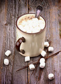 Warme chocolademelk met marshmallows — Stockfoto