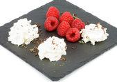 Raspberries Dessert — Stock Photo