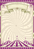 Vintage purple circus — Stock Vector