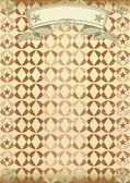 Cartel vintage wallpaper. — Vector de stock