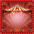Christmas circus card - Stock Vector