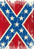 Grunge patriotic confederate flag — Stock Vector