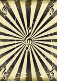 Black sunbeam music — Stock Vector