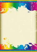 Grunge rainbow flag — Stock Vector