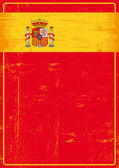 Spanish grunge poster. — Stock Vector