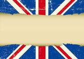 UK scratched flag — Stock Vector