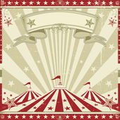Square vintage red circus — Stock Vector