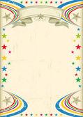 Cartel fiesta multicolor. — Vector de stock