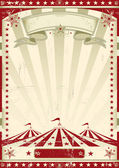 Red circus retro — Stock Vector