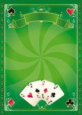 渦カジノ緑の背景 — ストックベクタ