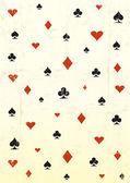 Grunge 扑克壁纸 — 图库矢量图片