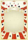 Used poker background — Stock Vector
