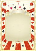 Plano de fundo usado poker — Vetor de Stock