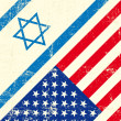 Israel and american grunge flag — Stock Vector #29934343