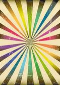 Multicolor sunbeams poste — Stock Vector