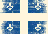 Quebec grunge flag. — Vector de stock