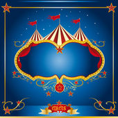 Circus blue vintage — Stock Vector