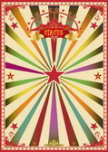 Circus color card — Stock Vector