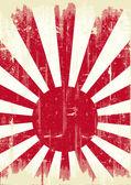 Japan grunge flag — Stock Vector