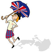 So british — Stock Vector