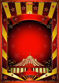 Gold circus background — Stock Vector