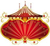 Magic red circus frame. — Stock Vector