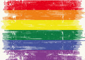 A grunge gay flag — Stock Vector
