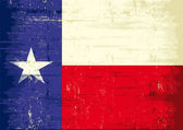 Texas grunge flag. — Stock Vector