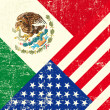 Vector de stock : USand Mexicgrunge Flag