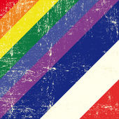 荷兰和同性恋 grunge 旗 — 图库矢量图片