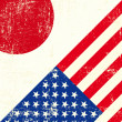 Vector de stock : USand Japanese grunge Flag