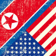 Vettoriale Stock : USand North Koregrunge Flag